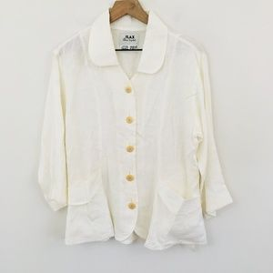 FLAX 100% Linen Button Up Relaxed Fit Top